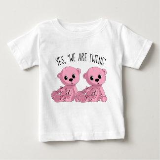 Twins Pink Teddy Bear Shirt