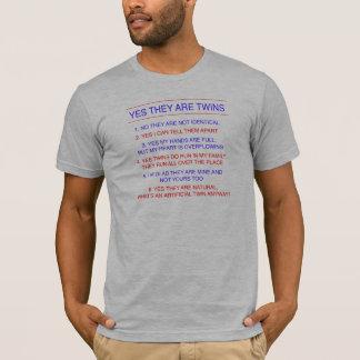 Twins Questions Fraternal T-Shirt