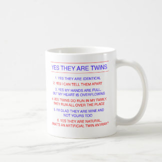 Twins Questions Identical Coffee Mug