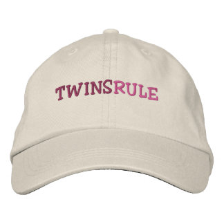 TWINS RULE EMBROIDERED CAP