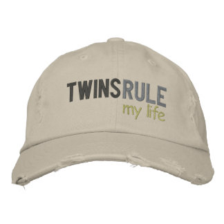 TWINS RULE my life Embroidered Hats