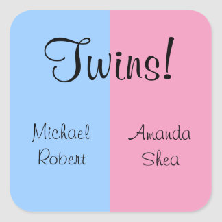 Twins! Square Sticker