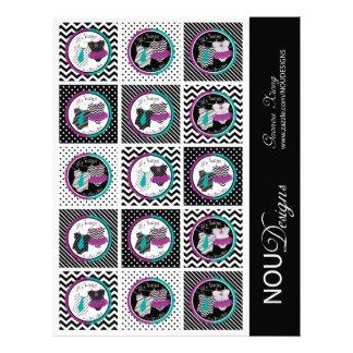 Twins Tie Tutu Mix Print Cupcake Topper 21.5 Cm X 28 Cm Flyer
