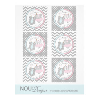 Twins Tie Tutu Mix Print Large Cupcake Toppers 21.5 Cm X 28 Cm Flyer
