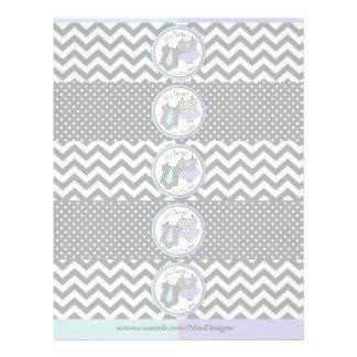 Twins Tie Tutu Mix Print Water Bottle Labels 21.5 Cm X 28 Cm Flyer