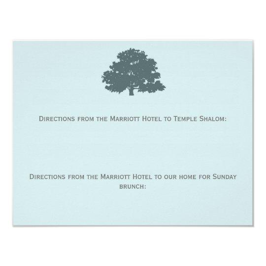 Twins Tree of Life Directions Bar Bat Mitzvah Card