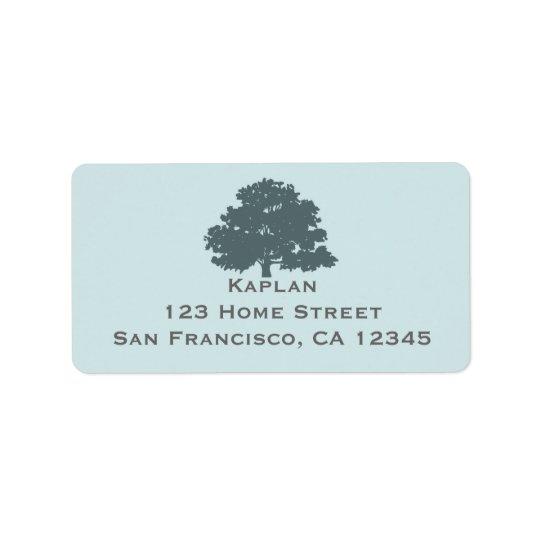 Twins Tree of Life Mitzvah Address Label