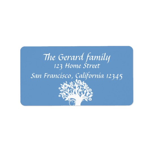 Twins Tree of Life Wedding Mitzvah Address Label