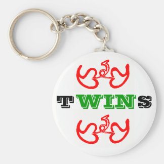 Twins WIN Basic Round Button Key Ring