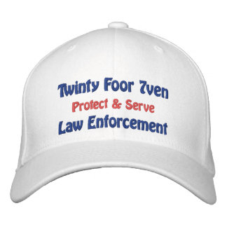 Twinty Foor 7ven/Law Enforcement Embroidered Baseball Caps