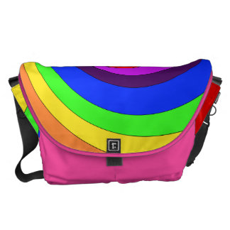 Twirl Abstract Rainbow color Bag Courier Bag