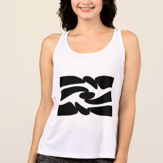 Twirl Black and White Abstract Design By: Dekkers Tank Top
