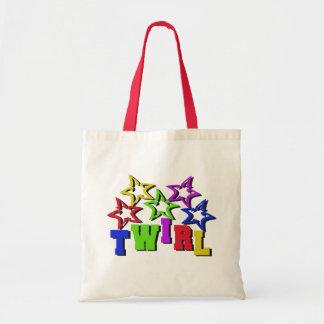 Twirl Stars Budget Tote Bag