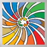 Twirled Recycle Print