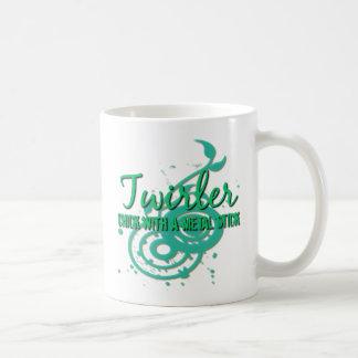 Twirler: Chick With a Metal Stick Basic White Mug