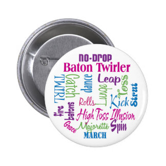 Twirler Collage 6 Cm Round Badge