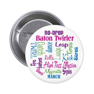 Twirler Collage 6 Cm Round Badge