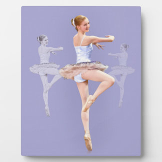 Twirling Ballerina in Triplicate Plaque