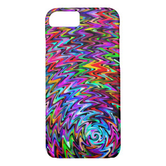 Twirling Colors Zigzag Pattern iPhone 8/7 Case