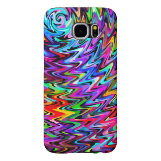 Twirling Colors Zigzag Pattern Samsung Galaxy S6 Cases
