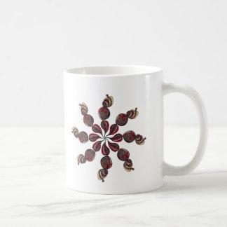 Twirling flower coffee mug