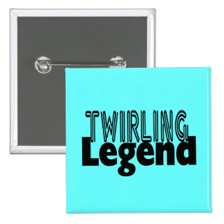 Twirling Legend 15 Cm Square Badge