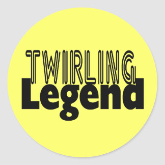 Twirling Legend Classic Round Sticker
