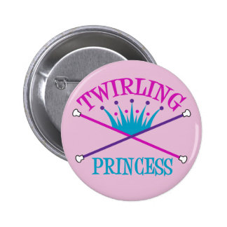 Twirling Princess 6 Cm Round Badge