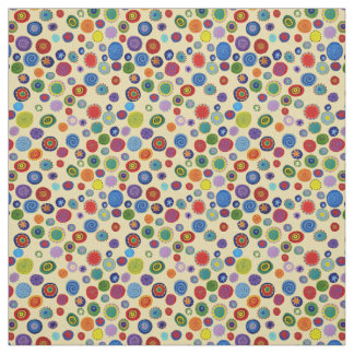 Twirly Party Dots Multicolor Fabric
