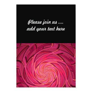 Twirly Pink Abstract Art 13 Cm X 18 Cm Invitation Card