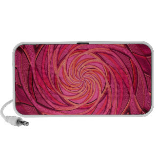 Twirly Pink Abstract Art Travelling Speaker