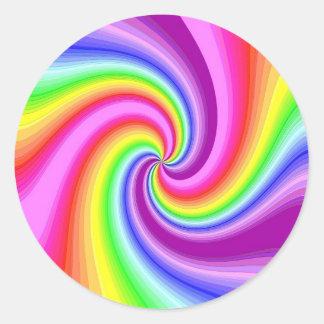 Twirly Round Sticker