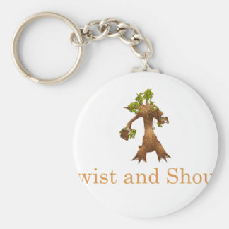 Twist and Shout! Basic Round Button Key Ring