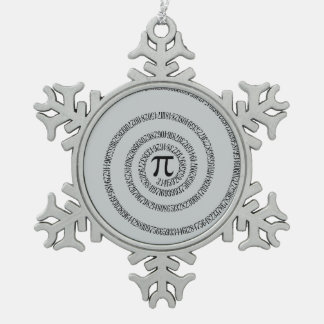 Twist for Pi Click Customize to Change Grey Color Pewter Snowflake Decoration