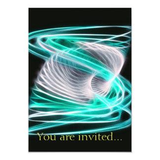 Twisted 1 Aqua Blue 13 Cm X 18 Cm Invitation Card