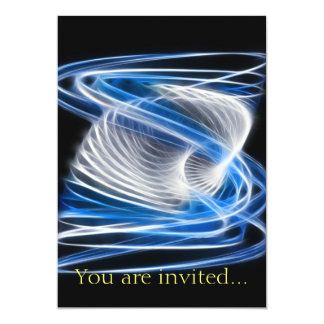 Twisted 1 Blue 13 Cm X 18 Cm Invitation Card
