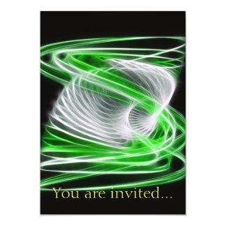 "Twisted 1 Green 5"" X 7"" Invitation Card"
