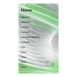 Twisted 1 Green Business Cards