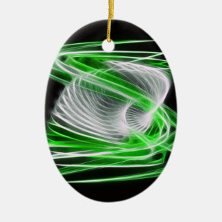 Twisted 1 Green Ornaments