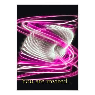 Twisted 1 Hot Pink 13 Cm X 18 Cm Invitation Card