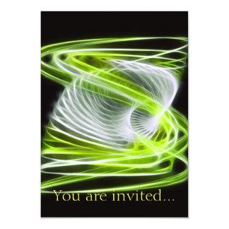 Twisted 1 Lime 13 Cm X 18 Cm Invitation Card