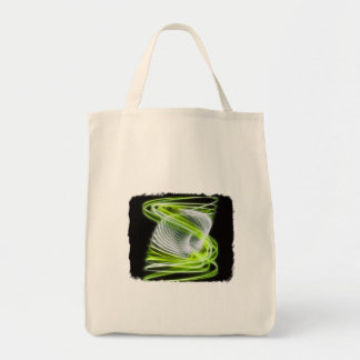 Twisted 1 Lime Canvas Bags