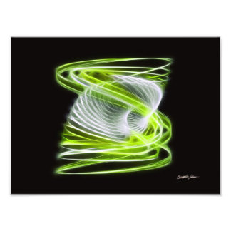 Twisted 1 Lime Photographic Print