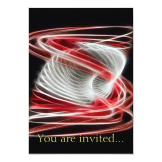 Twisted 1 Red 13 Cm X 18 Cm Invitation Card