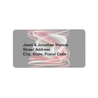 Twisted 1 Red Address Label