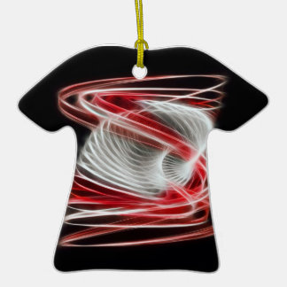 Twisted 1 Red Double-Sided T-Shirt Ceramic Christmas Ornament