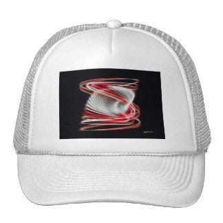 Twisted 1 Red Mesh Hat