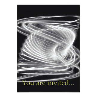 Twisted 1 White 13 Cm X 18 Cm Invitation Card