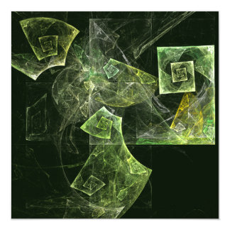 """Twisted Balance Abstract Art 5.25"""" Square Invitation Card"""