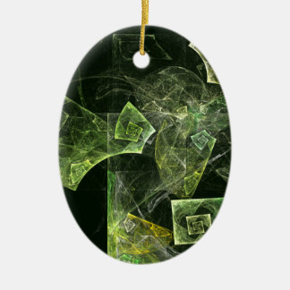Twisted Balance Abstract Art Oval Ornament